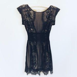 Lace Short Sleeve Dress Size M